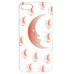 Moon Moonface Pattern Outlines Apple Iphone 5 Hardshell Case With Stand