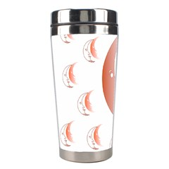 Moon Moonface Pattern Outlines Stainless Steel Travel Tumblers