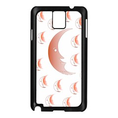 Moon Moonface Pattern Outlines Samsung Galaxy Note 3 N9005 Case (black)