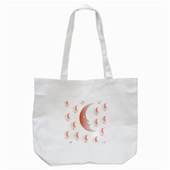 Moon Moonface Pattern Outlines Tote Bag (White)