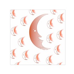 Moon Moonface Pattern Outlines Small Satin Scarf (square)