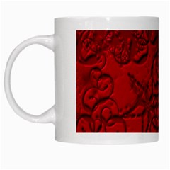 Christmas Background Red Star White Mugs