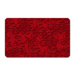 Christmas Background Red Star Magnet (rectangular)