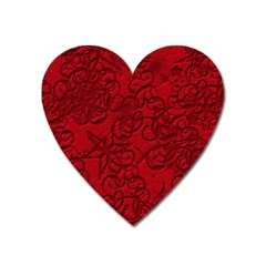 Christmas Background Red Star Heart Magnet