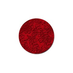 Christmas Background Red Star Golf Ball Marker