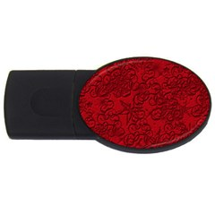 Christmas Background Red Star Usb Flash Drive Oval (2 Gb)