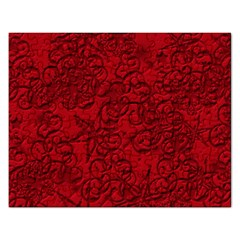 Christmas Background Red Star Rectangular Jigsaw Puzzl