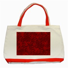 Christmas Background Red Star Classic Tote Bag (Red)
