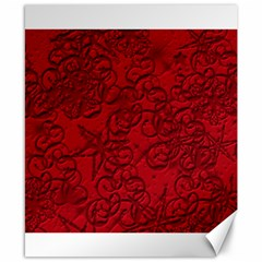 Christmas Background Red Star Canvas 8  x 10