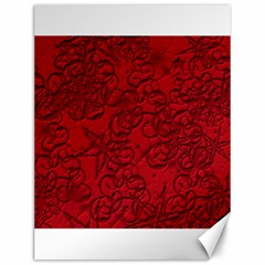 Christmas Background Red Star Canvas 12  x 16