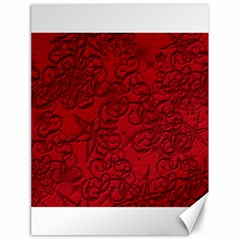 Christmas Background Red Star Canvas 18  X 24