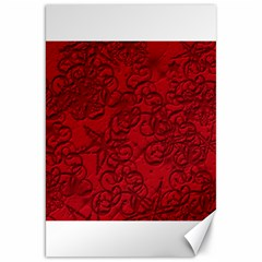 Christmas Background Red Star Canvas 20  x 30