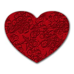 Christmas Background Red Star Heart Mousepads