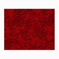 Christmas Background Red Star Small Glasses Cloth (2 Side)