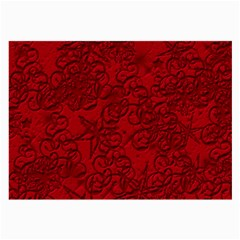 Christmas Background Red Star Large Glasses Cloth (2-Side)