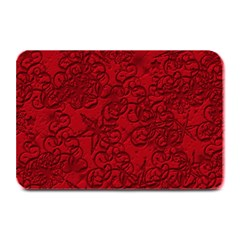 Christmas Background Red Star Plate Mats