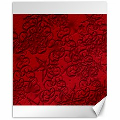 Christmas Background Red Star Canvas 11  x 14