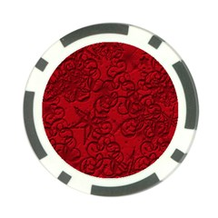 Christmas Background Red Star Poker Chip Card Guard