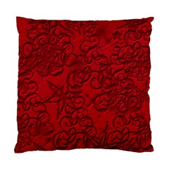 Christmas Background Red Star Standard Cushion Case (Two Sides)