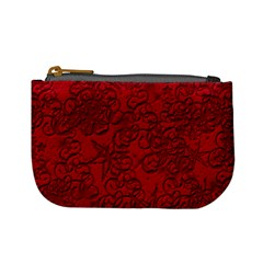 Christmas Background Red Star Mini Coin Purses