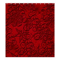 Christmas Background Red Star Shower Curtain 66  x 72  (Large)