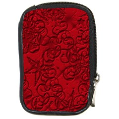 Christmas Background Red Star Compact Camera Cases