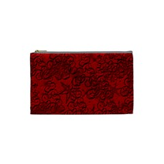 Christmas Background Red Star Cosmetic Bag (Small)