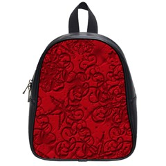 Christmas Background Red Star School Bags (small)