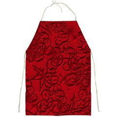 Christmas Background Red Star Full Print Aprons