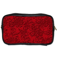 Christmas Background Red Star Toiletries Bags