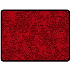 Christmas Background Red Star Fleece Blanket (Large)