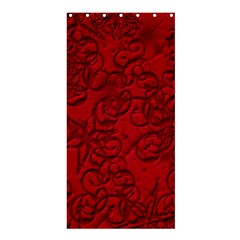Christmas Background Red Star Shower Curtain 36  x 72  (Stall)