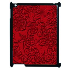 Christmas Background Red Star Apple iPad 2 Case (Black)