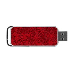 Christmas Background Red Star Portable Usb Flash (two Sides)