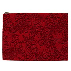 Christmas Background Red Star Cosmetic Bag (xxl)
