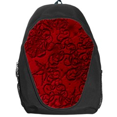 Christmas Background Red Star Backpack Bag