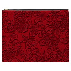 Christmas Background Red Star Cosmetic Bag (xxxl)