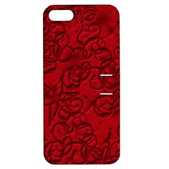 Christmas Background Red Star Apple iPhone 5 Hardshell Case with Stand