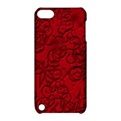 Christmas Background Red Star Apple iPod Touch 5 Hardshell Case with Stand