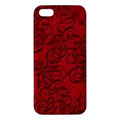 Christmas Background Red Star Apple iPhone 5 Premium Hardshell Case