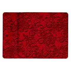 Christmas Background Red Star Samsung Galaxy Tab 10 1  P7500 Flip Case
