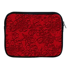 Christmas Background Red Star Apple iPad 2/3/4 Zipper Cases