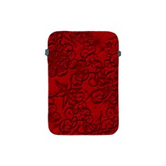 Christmas Background Red Star Apple Ipad Mini Protective Soft Cases