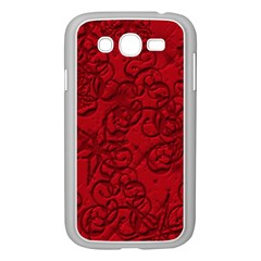 Christmas Background Red Star Samsung Galaxy Grand Duos I9082 Case (white)