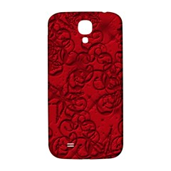 Christmas Background Red Star Samsung Galaxy S4 I9500/i9505  Hardshell Back Case