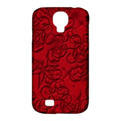 Christmas Background Red Star Samsung Galaxy S4 Classic Hardshell Case (PC+Silicone)