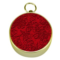 Christmas Background Red Star Gold Compasses