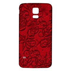 Christmas Background Red Star Samsung Galaxy S5 Back Case (White)