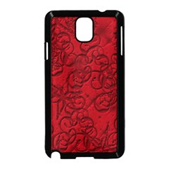 Christmas Background Red Star Samsung Galaxy Note 3 Neo Hardshell Case (black)