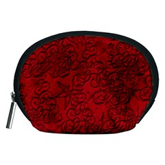 Christmas Background Red Star Accessory Pouches (medium)